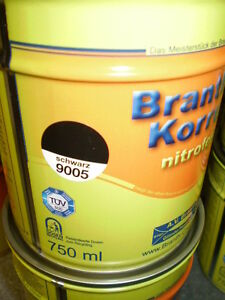 Brantho Korrux nitrofest 750ml Rostschutz RAL 9005 schwarz Metallschutzfarbe