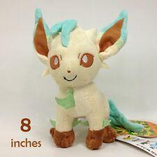 "Leafeon Pokemon Plush Soft Toys Stuffed Animal Character Doll Teddy Figure 8"""
