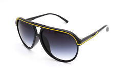 Black Flys Sunglasses Fly Bounce Shiny Black-Yellow w/ Smoke Grad 6465486252475