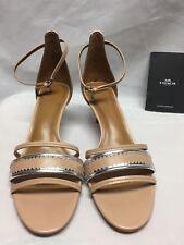 Coach Maxine two piece sandals Beachwood/ Silver  A01939 NIB
