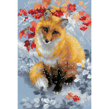 """""""Fox Counted Cross Stitch Kit-8.25""""""""X11.75"""""""" 14 Count"""""""