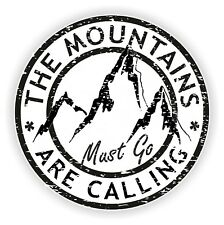 The Mountains Are Calling Vinyl Sticker for Bumper Baggage Travel Bag Laptop