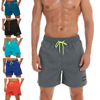Men's Summer Swimsuit Swim Trunk Beach Shorts with Lining Pockets Fast Dry Cool