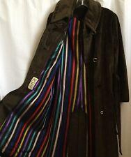 Original Miss Seymour Fox 70s Brown Coat Beautiful Lined Strips Heavy