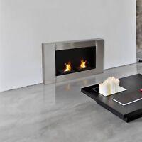 Gel Alcohol Bio Ethanol Fireplace 2 Burners Wall mounted Indoor Fireplace Heater