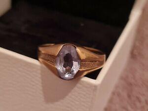 333 Goldring Aquamarin Gr. 56 1,8g Gold Ring 8K Ring Top Echt Schön Antik Retro