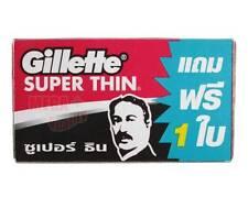 Gillette SUPER THIN RAZOR BLADES DOUBLE EDGED SAFETY SHAVING 5 Blades get 1 Free