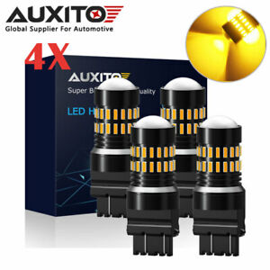 4x 3157/3156 Amber/Yellow High Power LED Turn Signal Sider Marker Light Bulbs