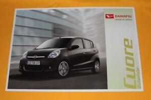 Daihatsu Cuore 2010 Zubehör Prospekt Brochure Depliant Prospetto Catalog Folder