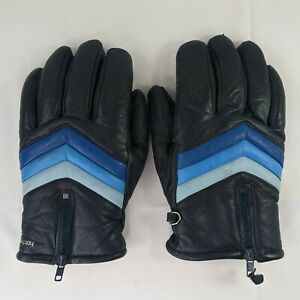 Vintage Hotfingers by Wells Lamont Leather Gloves Men's Size Large Acrylic Lined
