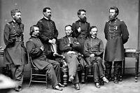 New 5x7 Civil War Photo: Union General William Tecumseh Sherman & Staff