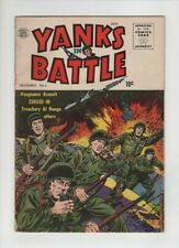 YANKS IN BATTLE #4 Fine, anti communist stories, Quality comics 1956, last issue