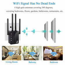1200Mbps Wireless 2.4G/5G Dual Band WiFi Repeater Router 4 High Antennas Home D