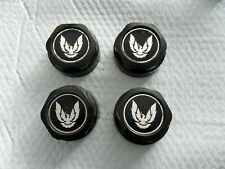 4 Pontiac Firebird  Short Black Wheel Cap Set (2) Free US Ship