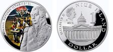 2010 Niue Large Silver Color Proof $1- Russia Supreme Commander Kutuzov