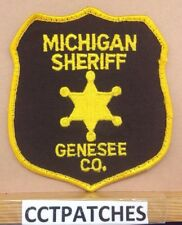GENESEE COUNTY, MICHIGAN SHERIFF (POLICE) SHOULDER PATCH MI USED
