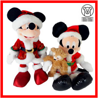 Disney Mickey Minnie Christmas Soft Toy Bundle Plush Prestige Edition Disneyland