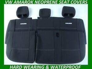 FITS VOLKSWAGEN AMAROK REAR  SPORTS  NEOPRENE SEAT COVERS ( WETSUIT MATERIAL )
