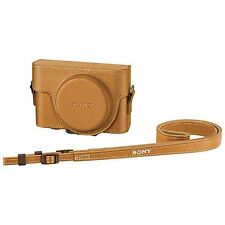 kb10 SONY Official Jacket Case LCJ-RXF CC SYH Beige for RX100III RX100II RX100