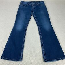 Silver Jeans Suki Surplus Flap Button Back Pockets Bootcut Womens Size 32x32