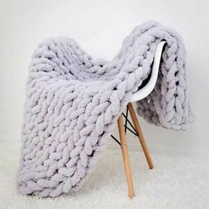 NWT Cable-Knit $695 Vince Wool Cashmere Blanket Throw