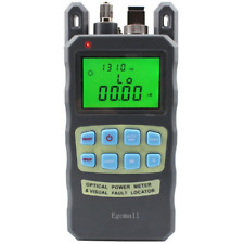 Fiber Optic Cable Tester -70 to 10dbm and 1mw 3.1mi Portable Optical Power SC