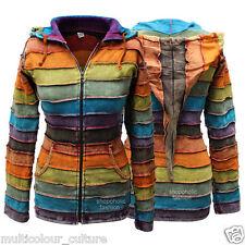 Shopoholic Fashion Women Acidwashed Rainbow Hippy Hoodie Jacket M