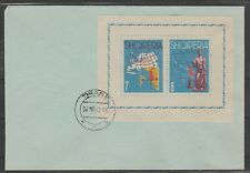 v005 Albanien/ Europa 1962   MiNr Block 13 auf FDC