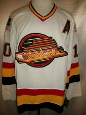 "Pavel Bure Vancouver Canucks White ""1992-1997 Throwback"" CCM NHL Jersey XL"