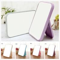 Square-Shape Hand Mirror Held Vanity Fold Mirror Standing Makeup Dresser Mirror