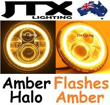JTX LED Headlights AMBER Halo Flashes AMBER for Nissan Patrol GQ Ford Maverick