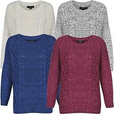 Crew Neck Patternless Long Jumpers & Cardigans for Women