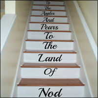 LARGE STAIR RISER UP THE APPLE AND PEARS TO LAND OF NOD  STICKER TRANSFER DECAL