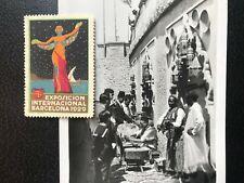 1929 - Barcelona International Exhibition Poster Stamp + Postcard - ref272