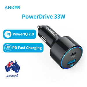 Anker Car Charger 33W PowerDrive USB C PD Fast Charge with 2 Port USB for iphone
