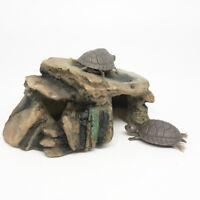 EE_ AM_ Turtle Reptile Dock Basking Platform Aquarium Fish Tank Simulation Rock
