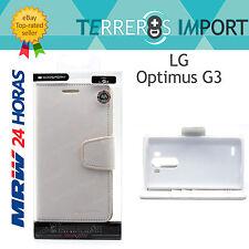 Funda de Libro Blanco Mercury Goospery LG Optimus G3 Fancy Diary Case