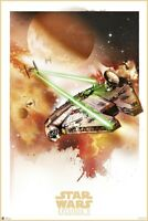 STAR WARS: EPISODE V - THE EMPIRE STRIKES BACK - MOVIE POSTER (WATERCOLOR ART)
