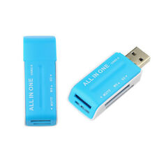 Adaptateur USB 2.0 Lecteur de Carte Mémoire Flash Multi SD SDHC TF M2 MS / BU