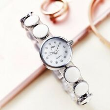 Stainless Steel Crystal Ceramic Round Women's Dress Bracelet Quartz Watches