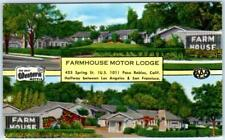 PASO ROBLES, California  CA   Roadside  FARMHOUSE MOTOR LODGE c1950s   Postcard