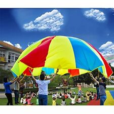 3.6m Diameter Parachute for Kids Baby Students with 8 Handles Play