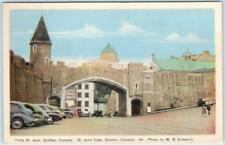 PORTE ST. JEAN, QUEBEC, Canada   ST. JOHN GATE  ca 1940s Postcard