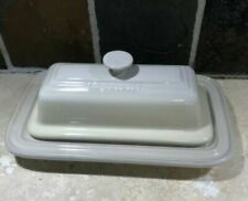 """""""dune"""" Covered Butter Dish Le Creuset Stoneware Single Stick Neutral Ombre"""