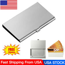 Business ID Credit Card Holder Wallets Holders Box Stainless Steel Silver