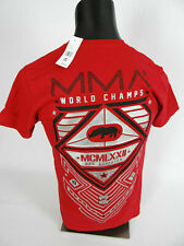 Mens MMA Ecko UNLTD Red T-Shirt Reflective Silver Tribal Prints Slim Fit