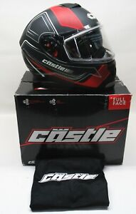 Castle X Matte Red Thunder 3 SV Trace Snow Helmet - SIZE: SMALL