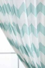 """Urban Outfitters Assembly Home Lt. Blue Zig Zag Curtain Panel 52"""" x 84"""" NIP S/O"""