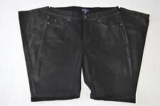 Not Your Daughter's Jeans Lift Tuck Technology Skinny Fit Shiny Black Denim sz 8