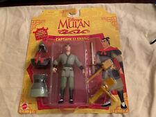 Disney's Mulan Captain Li Shang Poseable Action Figures 1997 Mattel 67934 Sealed
